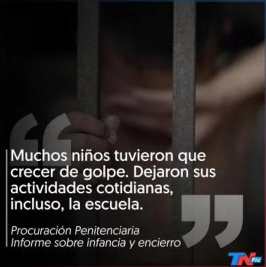 [TN] En la Argentina hay 146 mil niños, niñas y adolescentes con uno de sus padres preso
